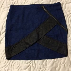 NWT wool skirt with zipper detail and tulip hem